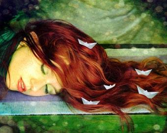 Surreal fine art photography, dreamy portrait