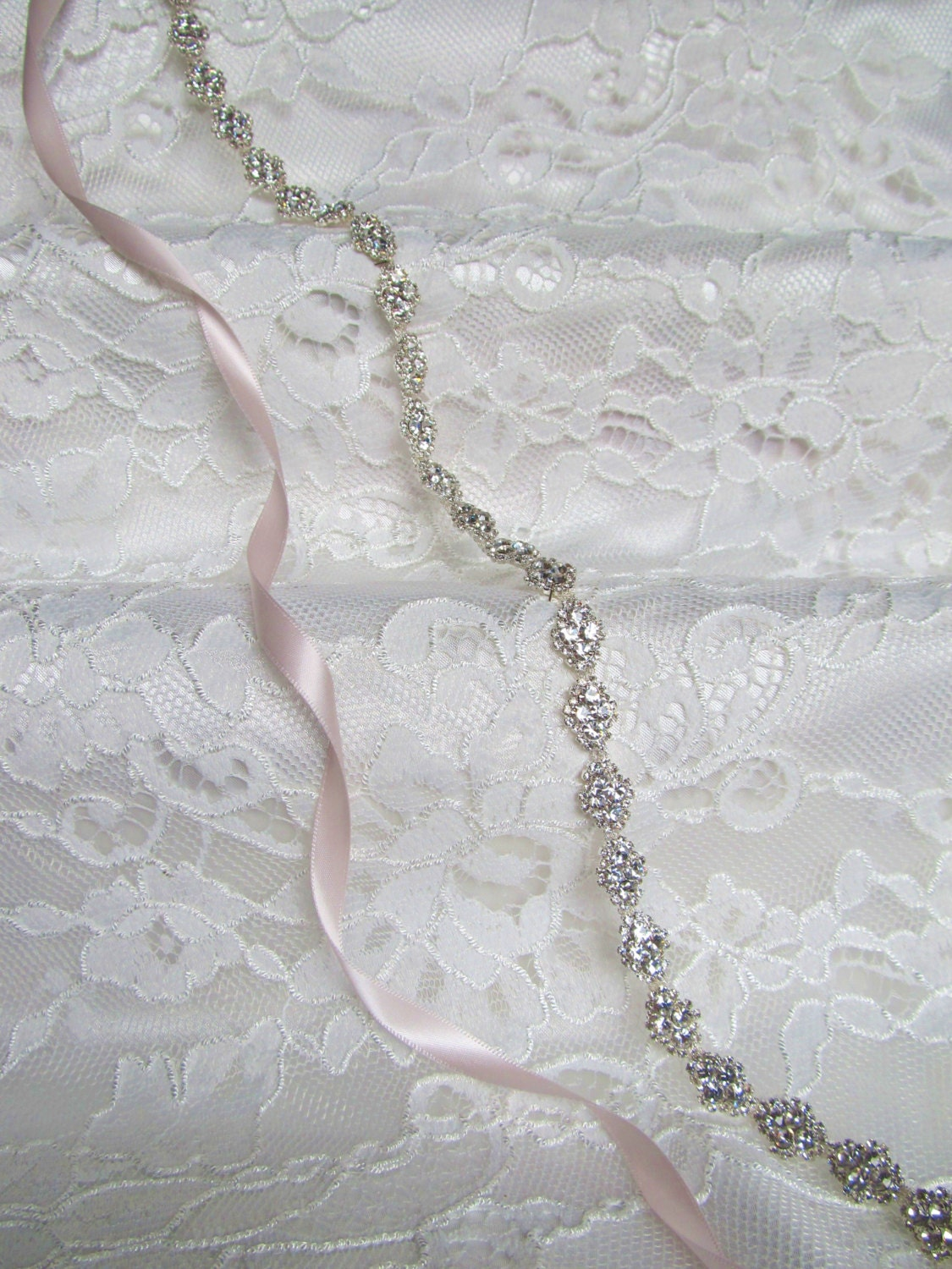 Delicate Silver Crystal Rhinestone Bridal Sash,Wedding sash,Bridal Accessories,Bridal Belt,Style #49