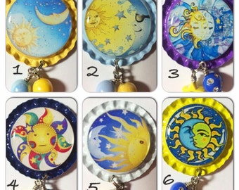 TOP Only**Celestial Interchangeable Badge Reel Tops  *PICK ONE*