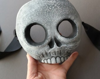 OOAK Handmade Spooky Skull, Skeleton Wall Mask for Halloween, Masquerade, Ren Faire - One of a Kind