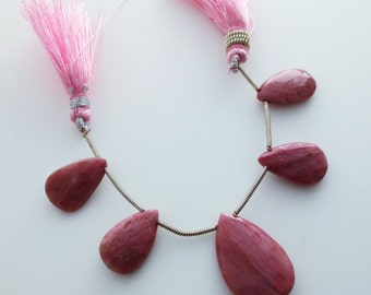 Rhodonite Faceted Briolettes Qty 5