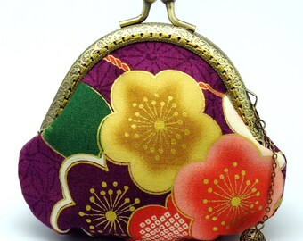 Sakura - Japanese Kimono Fabric - Small clutch / Coin purse (JS-42) R1