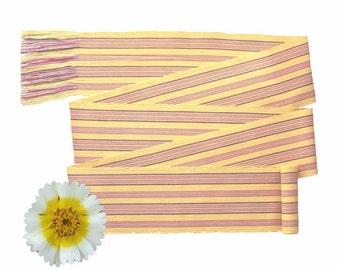 Woven Belt - Yellow Sash - Bohemian Clothing Women - Guatemalan Fabric - Boho Chic Fashion - Flower Girl Sash - Striped Sunshine Yellow SA22