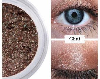 Iridescent Brown Eyeshadow, CHAI, Mineral Eye Color, Brown Shimmer, Neutral Brown,  Brown Iridescent Eye, Vegan, Natural Eye Shadow, Shadow