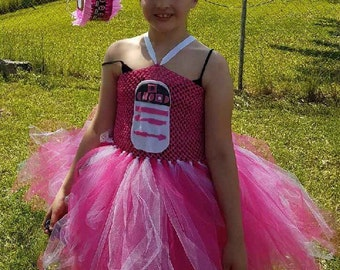 pink Star Wars r2d2 tutu dress sizes 5-14
