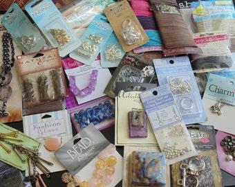 Huge Lot Jewelry Making Findings Beads Cording NIP