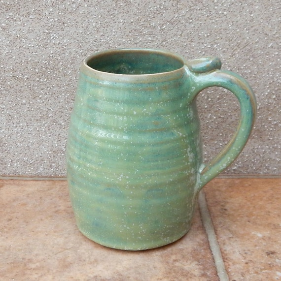 Beer stein tankard mug hand thrown stoneware pottery