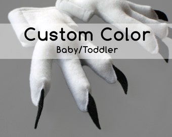 Baby Bird Feet with Talons, Custom Color, 3 months to 2 years.
