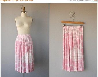 25% OFF SALE... Vintage Rayon Skirt | 70s Midi Skirt | 1980s Midi Skirt | 80s Rayon Skirt | Vintage Pink Skirt