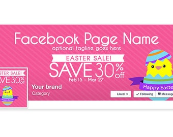 Timeline Cover & Profile Picture - Easter Facebook Timeline Cover - Social Media Cover - Easter Sale 1