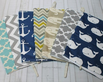 Nautical Changing Pad - Anchors - Whales - Quatrefoil - Chevron - Elephants Your Choice or Custom To Match Your Bag
