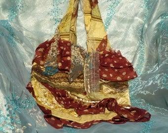 Gypsy Bag, Shabby Chic Purse, Boho Bag,  Tattered Bag, Gypsy Purse by mystic2awesome