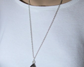 Black Teardrop Necklace, Bohemian Jewelry, Everyday Jewelry, Gift for, Her, Birthday, Anniversary, Christmas