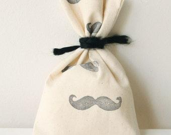 MOUSTACHE Favour Bags - Mustache moustache theme, little man, MUSTACHE treat bag, mustache favour bag x 10