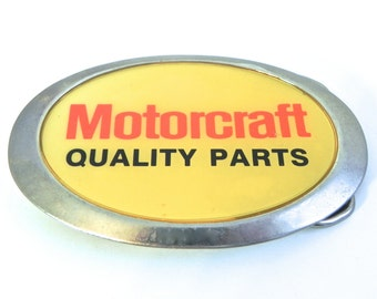 Vintage Motorcraft Belt Buckle for the Man with Quality Parts - on sale