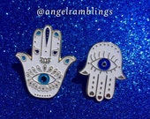 2 Limited Edition Hand Of Hamsa Enamel Pins