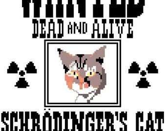 Schrodinger's Cat Cross Stitch Pattern PDF