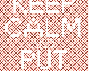 Keep Calm and Put the Kettle On iPhone Case Easy Cross Stitch Pattern PDF