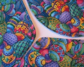 Blue Easter Egg Wedge Placemats Reversible Colored Easter Eggs Placemats Decorated Egg Wedge Placemats for round table Easter Wedge Placemat