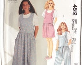 Classic 1990 McCall's 4812 UNCUT Sewing Pattern Misses' Jumper, Jumpsuit or Romper Size 6-8 Bust 30-1/2 - 31-1/2