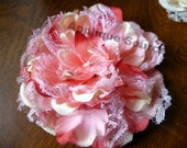 NEW Shabby Lace & Fabric Flowers - Dusty Rose - Great for Rustic Decorating, Home Decor, Etc
