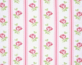 Pink Lulu pwtw096PINK  Cotton Fabric by Tanya Whelan FreeSpirit Lulu Roses