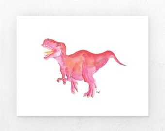 Pink T Rex | Art Print