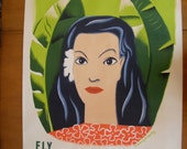 1953 Hawai'i Travel Poster  lithograph