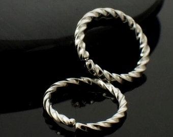 1 - Twisted Simple Hoop Earring - You Pick Gauge and Diameter - Argentium Sterling Silver, 14kt Gold Filled, 14kt Rose Gold Filled