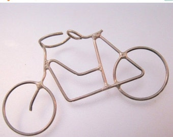 10% OFF SALE Vintage Sterling Silver Bicycle Pendant