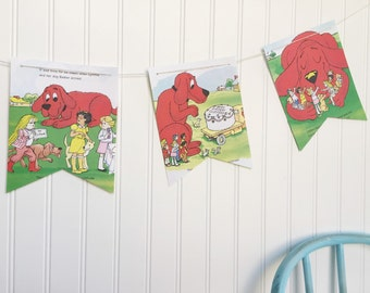 clifford the big red dog book party decoration banner garland