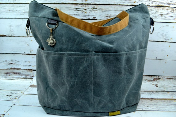 waxed canvas diaper bags by darby mack and made in by. Black Bedroom Furniture Sets. Home Design Ideas