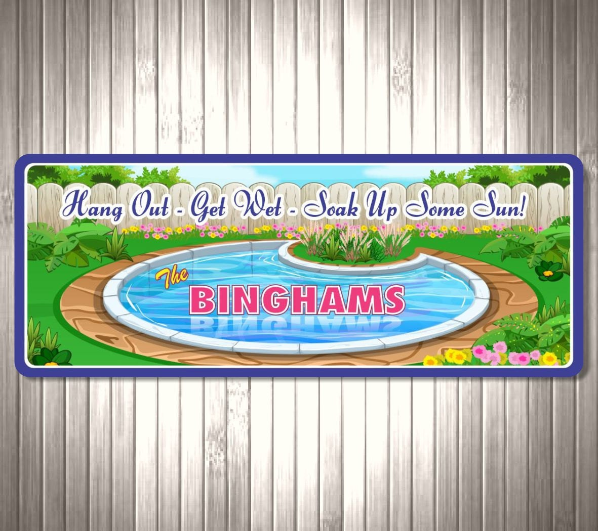 Swimming Pool Sign Custom Sign Personalized Sign With