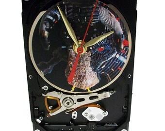 "Hard Drive Clock, Computer Parts ""Bull"" Dial. Got Animal Gift Clock, Computer Clock, Honeywell Ad Clock, Novelty Clock, Bull Clock?"