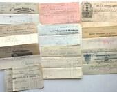 10 Antique Receipts