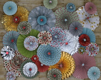 Paper Rosettes Party Back Drop Wall Art