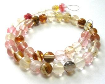 Cherry Quartz Rounds (8mm) - Gemstones