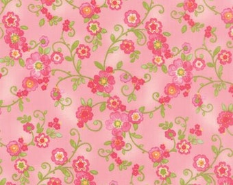 Floral Flourish in Rose  COLETTE by Chez Moi ... Pink colorway ...choose your cut Moda 33051 11