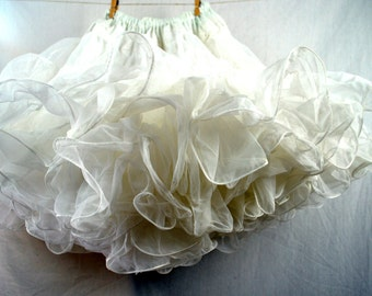 Vintage White Square Dancing Petticoat Tutu Crinoline Slip - Square Up Fashions