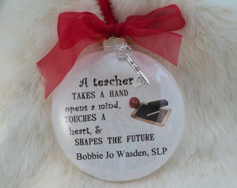 Teacher. SLP, School Ornament, A Teacher Takes A Hand
