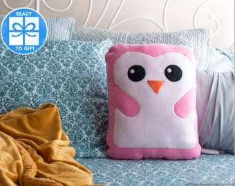 Pink Decorative Pillow - Penguin Pillow - Home Decor - Bird Shaped Pillow - Gift for Children - Baby Room Decor - Cute Gift - Ships Fast!