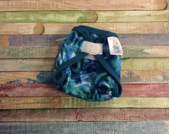Sound Waves Polyester PUL Cloth Diaper Cover With Aplix Hook & Loop Or Snaps You Pick Size XS/Newborn, Small, Medium, Large, or One Size