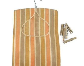 Vintage Clothes Pin Bag Clothes Line Bag Laundry Day Bag