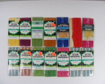 Vintage Lace Seam Binding 14 Packages of Stretch Lace Sewing Trim