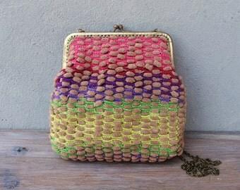 Ombré Rainbow Pouch Clutch Crochet