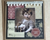 Vintage Photo of Young Child Love Themed Card