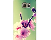 Pink Cherry Blossom Photo iPhone case, Samsung Galaxy hard-shell case, Valentine day gift, iPhone 6s case, Samsung Galaxy S6 Case