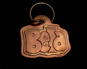 Customized handmade copper and brass pet tag