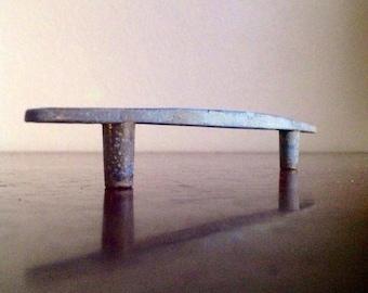 Vintage Silver Metal Drawer Pull. Minimalist Furniture Redo / DIY.