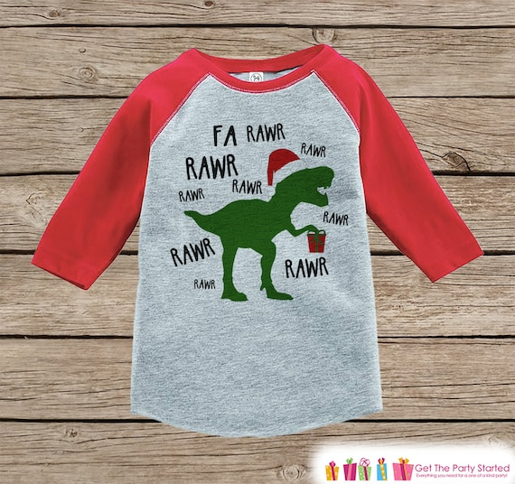Items Similar To Dinosaur Christmas Outfit T Rex